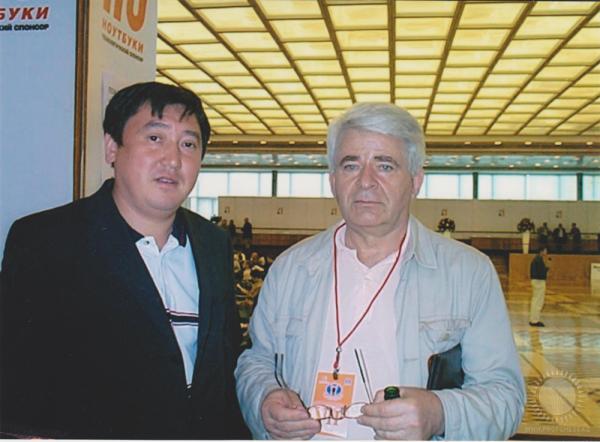 Булат Асанов и Борис Спасский