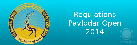 Regulations Pavlodar Open 2014