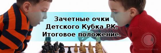 Зачетные очки Детского Кубка Казахстана после 6 этапов