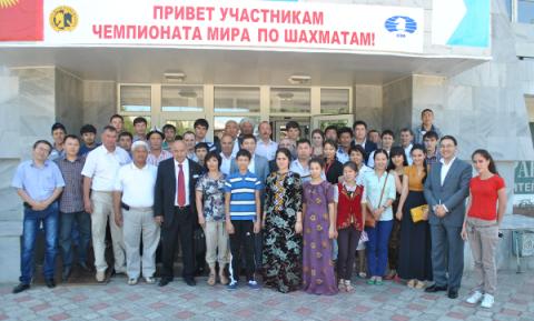 Участники зонального турнира по шахматам в Оше